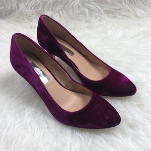 INC International Concepts Velvet Heels